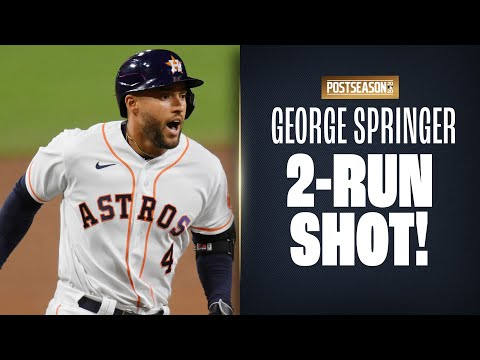 George Springer puts Astros back on top in ALCS Game 4 with MOONSHOT!