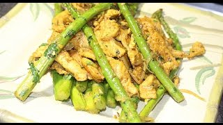 Quick & Easy Chicken Asparagus Recipe | Stir Fry Chicken And Asparagus Recipe