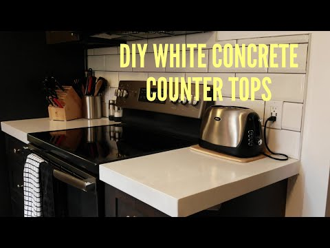 Easiest DIY White concrete counter tops