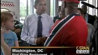 President Obama Stops for Lunch at Five Guys