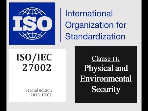 ISO 27002 - Control 11.1.1 - Physical Security Perimeter