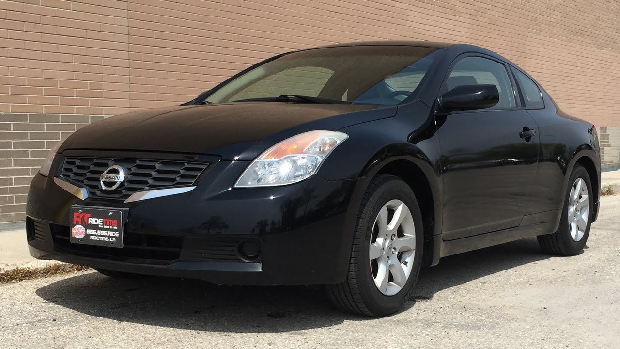 2008 nissan altima 2 5s coupe leather sunroof alloy wheels huge value youtube. Black Bedroom Furniture Sets. Home Design Ideas