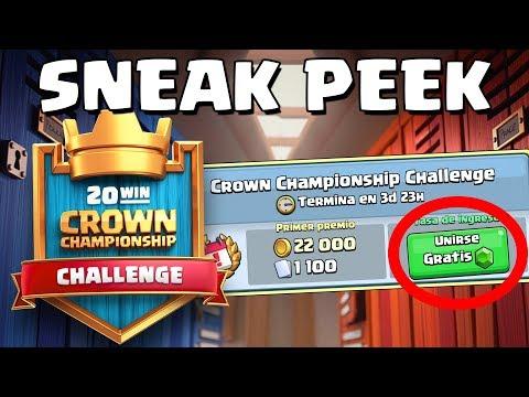 EL DESAFÍO DE 20 VICTORIAS GRATIS. Clasifica para el Crown Championship | Sneak Peek | Clash Royale