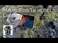 Making Birch Bark Oil. Birch Tar. Russian Oil. How To Make Birch Oil. Scotland.