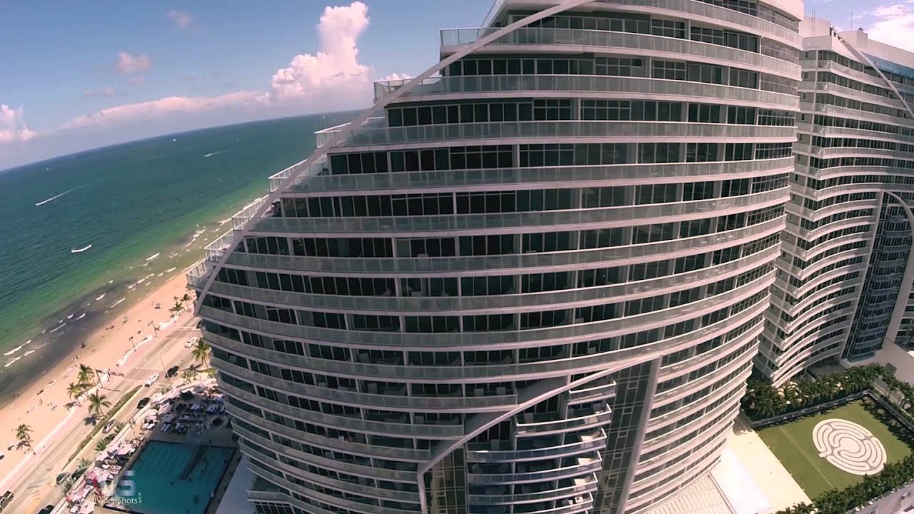 W Hotel Ft Lauderdale Fl Sample Aerial Video Filming