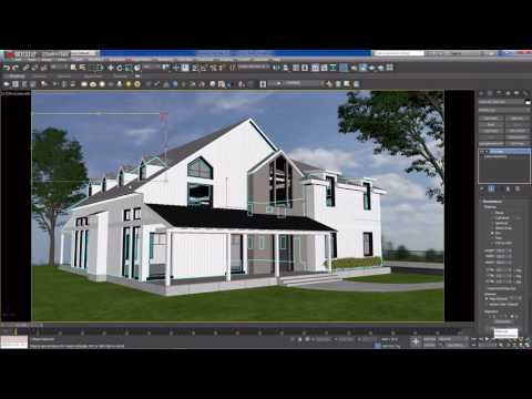 Modeling and rendering a house (time lapse) - Part 7