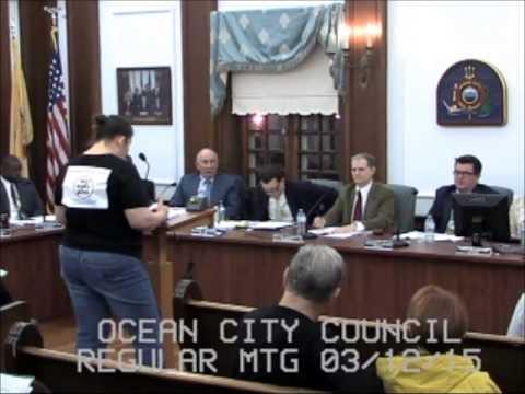 Ocean City NJ Councilman Tony Wilson in action