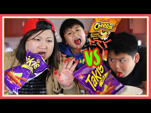 Takis Fuego and Hot Cheetos Challenge ft Crew & Cody - MadeWithSoyy