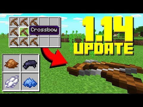 NEW CROSSBOWS! New Items, Panda Update (Minecraft 1.14 Snapshot)