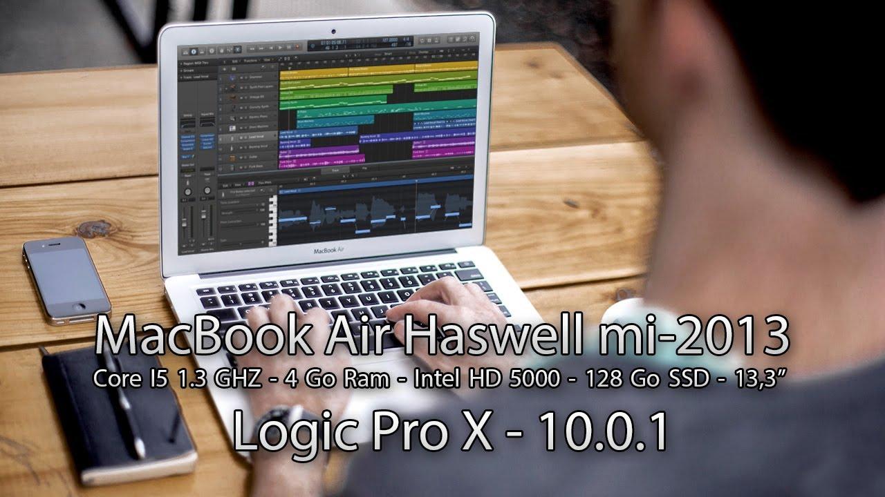 Test De Performance Logic Pro X 10 0 1 Macbook Air