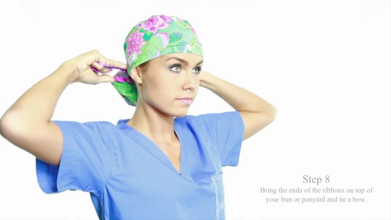 460770bb How to Wear the Pony Hat by blue sky scrubs - YouTube