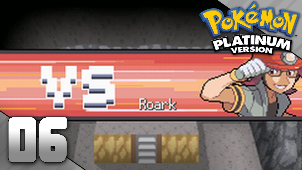 pokemon platinum part 6 gym leader roark youtube