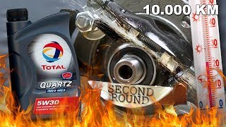 Total Quartz Ineo MC3 5W30 Test tarcia 10.000km 2kg