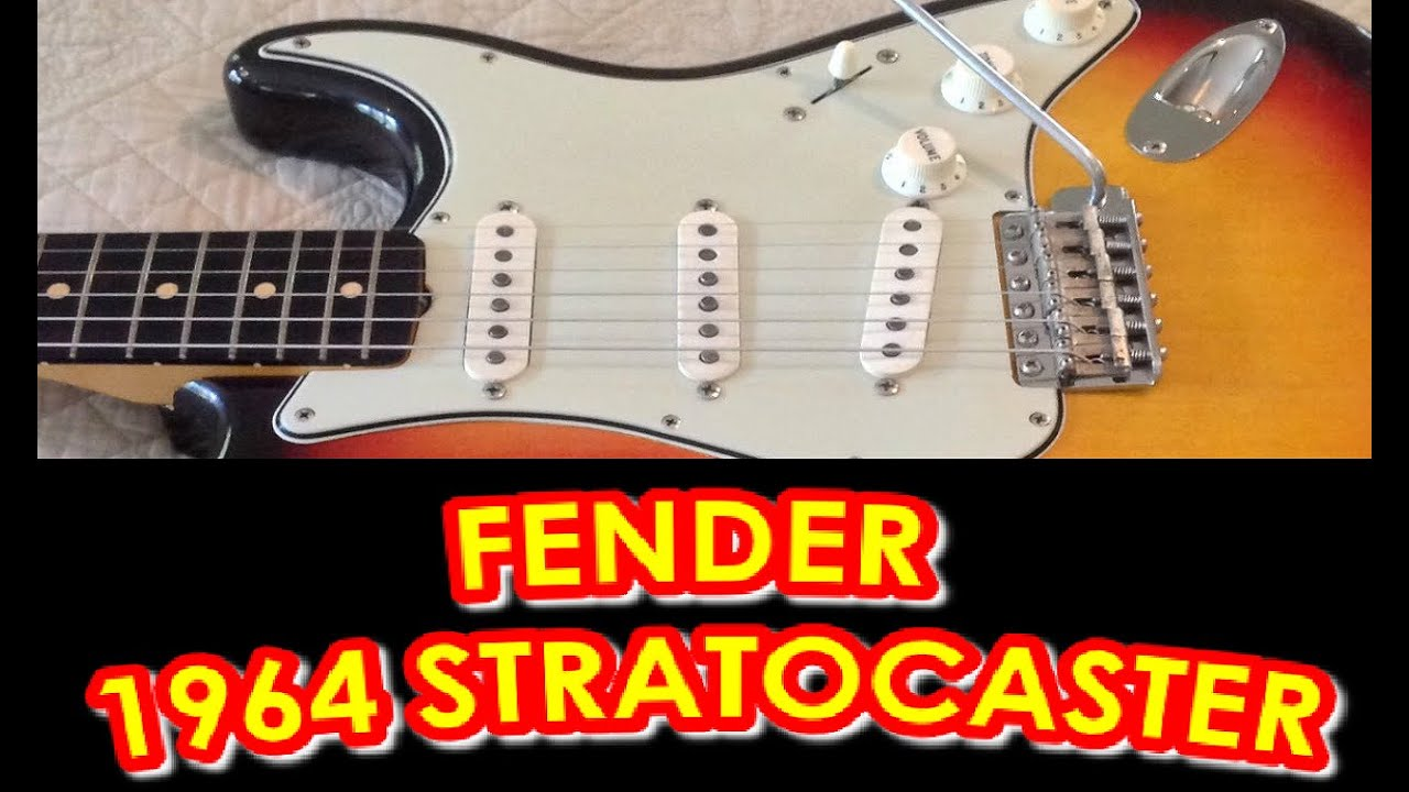 american vintage fender 1964 stratocaster electric guitar what it is worth youtube. Black Bedroom Furniture Sets. Home Design Ideas