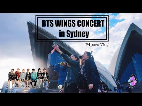 VLOG] BTS WINGS CONCERT IN SYDNEY | P4pero Daily - YouTube