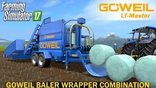 farming Simulator 17 Goweil LT Master - Easy Baling & Wrapping  Woodmeadow Map Krone John Deere