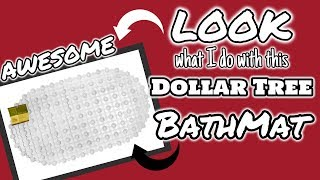 LOOK what I do with this DOLLAR TREE BATHMAT | QUICK and EASY Dollar Tree DIY