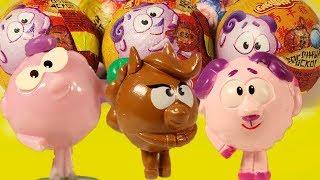 СМЕШАРИКИ сюрпризы из мультика в шоколадных шарах ВОСТОЧНЫЙ ГОРОСКОП