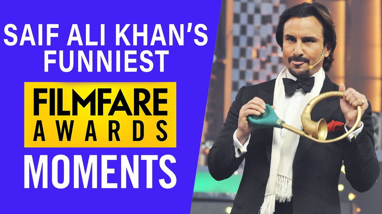 Saif Ali Khan Funniest Filmfare Awards Moments | Filmfare Awards | Saif Ali  Khan