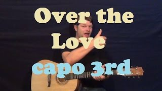 Over The Love (Florence And The Machine) Easy Guitar Lesson Strum How to Play Great Gatsby Tutorial