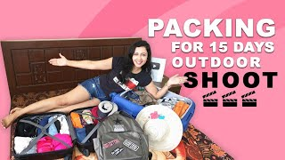 What's in my SUITCASE | Packing for Outdoor shoot | An Actor's Vlog
