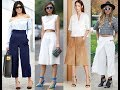 How to Wear Culottes celebrity style 2018