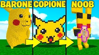COPIONE VS BARONE VS NOOB - PIKACHU!! - Minecraft ITA