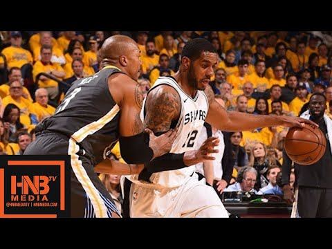 Golden State Warriors vs San Antonio Spurs Full Game Highlights / Game 2 / 2018 NBA Playoffs
