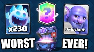 Clash Royale   WORST CHEST OPENING EVER!?! NEW UPDATE CARDS UNLOCKED JULY 2016!