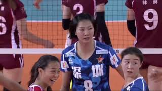 2017-2018  China Volleyball League 1st Stage YUAN Xinyue Spike Highlights