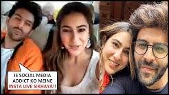 Kartik Aaryan TEACHES Sara Ali Khan How To Go Live On Instagram | CUTE Video!
