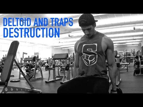 FULL Deltoid and Traps Destruction Workout with Nick Klokus | Alex Barber