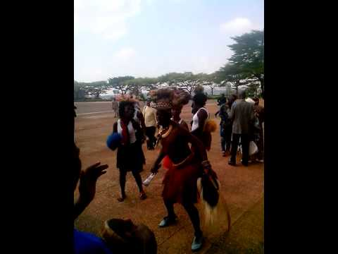 Cameroonian dancers at wedding party, Yaounde