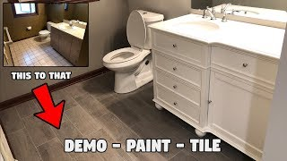 DIY BATHROOM REMODEL (complete 2019 makeover)