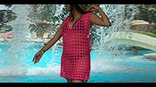 HOW TO CROCHET A BEACH COVERUP - EASY AND FAST - BY LAURA CEPEDA