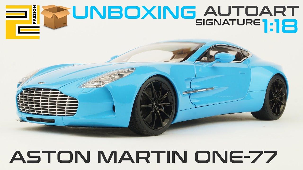 unboxing] aston martin one-77 1:18 autoart signature tiffany blue