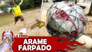 DESAFIO DO CHUTE SURPRESA COM BOLA DE ARAME FARPADO