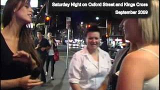 A Saturday Night in Oxford Street and Kings Cross Sydney Sept 09