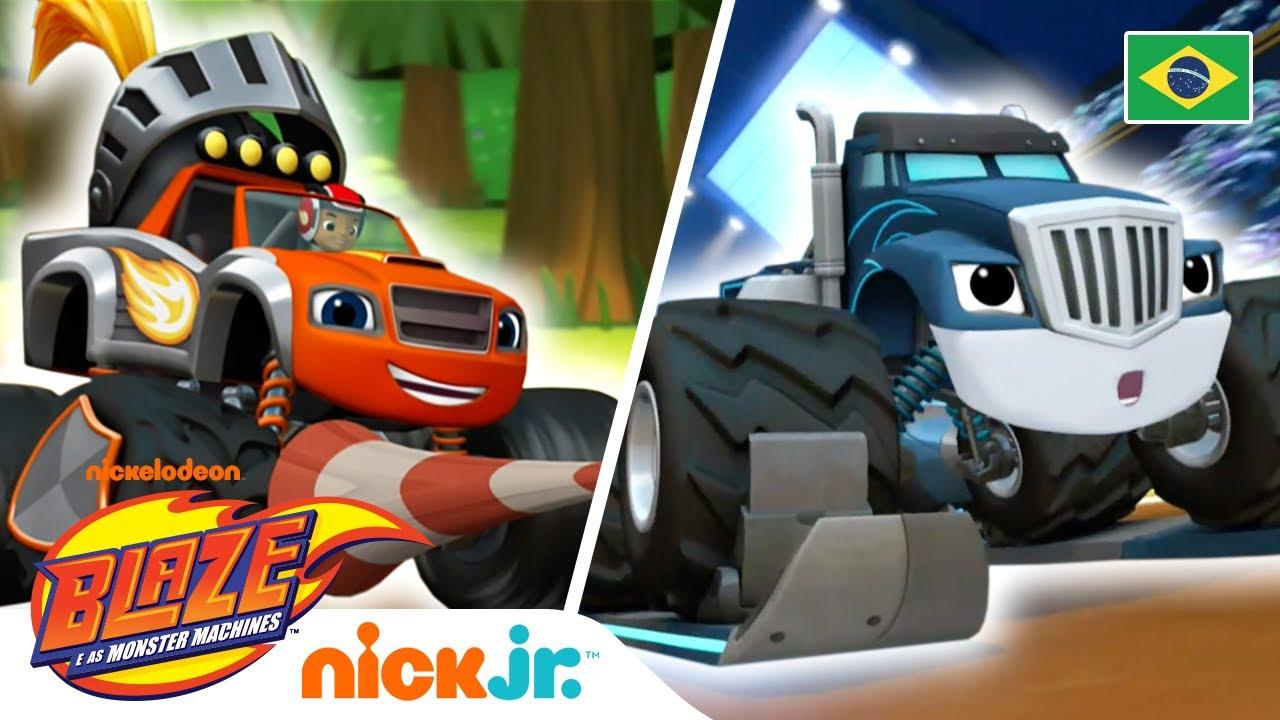 🏁 Os melhores momentos da corrida! 🏁 | Blaze and the Monster Machines