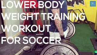 Lower Body Weight Training Workout For Soccer