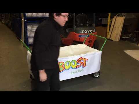 Bespoke trolley for Boost juice bars