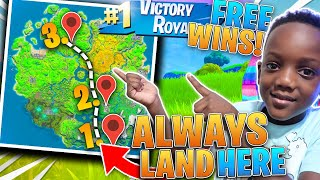 BEST Landing Spots To Get FREE WINS *PROOF*