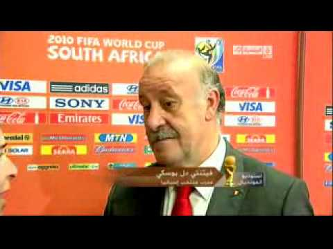 Paraguay vs Spain  Spain coach told Dalbowski WORD CUP 2010