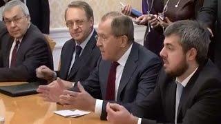 Встреча С Лаврова с представителями сирийской оппозиции 27.01.2017