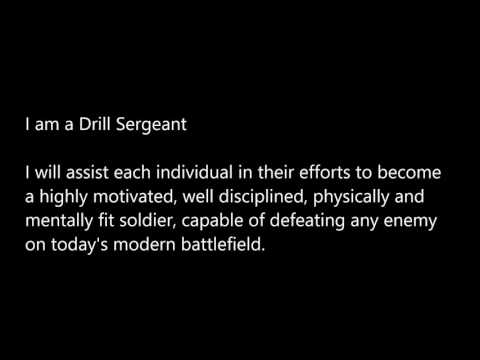 The Drill Sergeant Creed