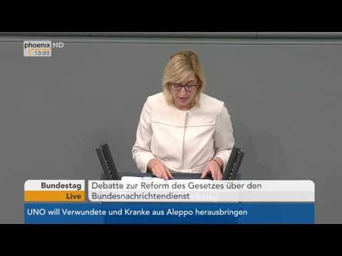 Bundestag: Debatte zur Reform des Gesetzes über den Bundesnachrichtendienst am 21.10.2016