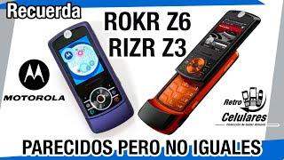 Motorola rizr Z3 y Rokr Z6 Colección Celulares, antiguos, viejos old cell phones RETRO CELULARES