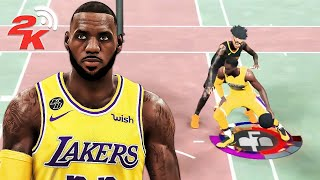 I put POST TAKEOVER on my LEBRON JAMES BUILD in NBA 2K20...