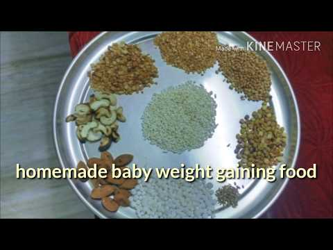 Easy homemade baby weight gaining food(ఉగ్గు)/home made baby Cerelac for all stages
