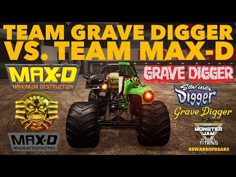 Monster Jam: Steel Titans | Team Grave Digger Vs. Team Max- D | Freestyle Competition [Gameplay]
